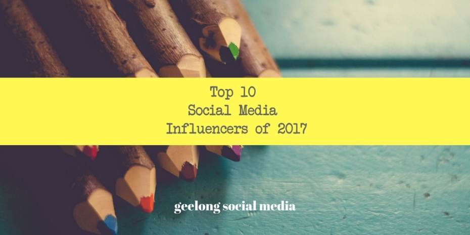 Twitter Top 10Social Media Influencers of 2017-2